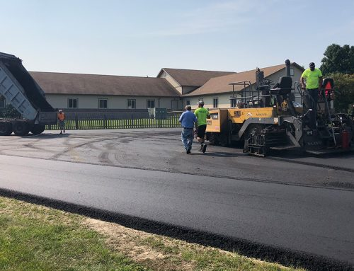 New Pavement Donated to Replace Gravel Drives